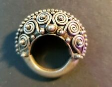 VINTAGE FILIGREE WORK DESIGN SILVER RING TRIBAL JEWELRY Size 5