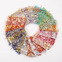 100PCS Organza Jewelry Candy Gift Pouch Bags Wedding Party Xmas Favors Decor  Lp
