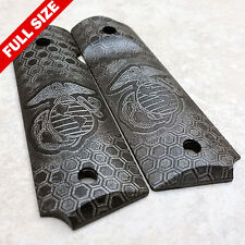 "1911 Pistol Grips .25"" Thickness - USMC HoneyComb Metallic Finish (full size)"