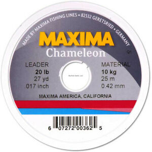 Maxima Fishing Line Leader Wheel Chameleon 8 Pound/27 Yard MLC-8