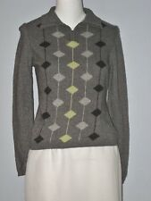 TENAX  Gray Collared Long Sleeve Sweater (Made in Italy)