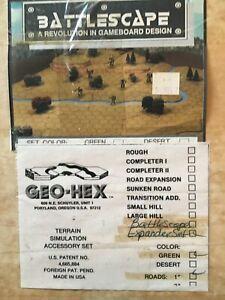 Geo-hex battlescape expander set terrain simulation accessory set