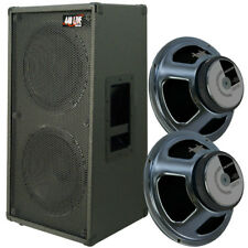 2x12 Vertical Guitar Speaker Cab Charcoal Blk tolex W/Celestion G12T75 Spkr