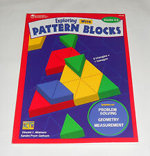 Exploring With Pattern Blocks Book (Grades 4-6) Learning Resources