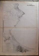 Carte marine nautical map Tunisie Golfe de tunis La Goulette  XIXème s