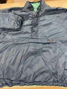 Men's Patagonia Reversible Retro Glissade Pile Snap-T Pullover SZ XL Blue/Green