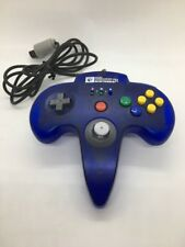 Nintendo 64 Controller HORI COMMANDER N64 Clear Blue HN6-02 Working Tested Rare