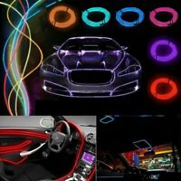 3 / 5 m Neon LED Light Glow EL Wire String Strip Rope Tube Decor Car Party
