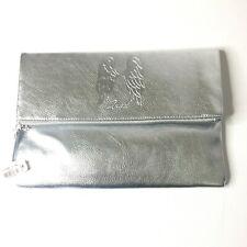 Victoria's Secret Angel Fold Over Silver Clutch Bag Wallet Cosmetic Case Purse