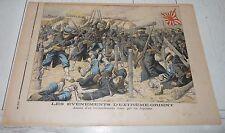 PETIT JOURNAL 1904 GUERRE RUSSIE-JAPON ASSAUT JAPONAIS / MONUMENT DE WATERLOO