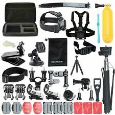 CCBetter Action Camera Kit 50 in 1 Accessories Gopro Strap Screw Tripod Travel