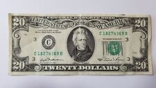 ^ 1981 $20 20 DOLLAR BILL, FEDERAL RESERVE NOTE SERIAL # C18274369B