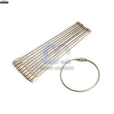 5PCS Creative Outdoor Camping Hiking Stainless Steel Wire Keychain KeyRing Chain