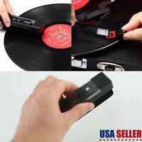 Vinyl Record Cleaning Brush Kit Phonograph Stylus Velvet Anti-static Cleaner NEW