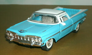 1/32 Scale 1959 Chevy El Camino Car Pickup Truck Diecast Model - TootsieToy Blue