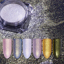 Nail Art Mirror Gem Powder Mermaid Dust Silver Gold Shining Glitter Born Pretty