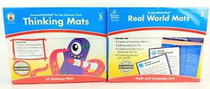 NEW 2PK Grade 5 Educational Learning School 15 Thinking Mats Math Language Arts