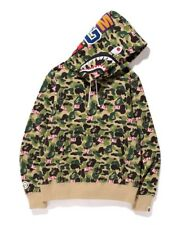 Brand New DS SS15 Alife x A Bathing Ape Bape Camo Shark Pullover Hoodie Small S