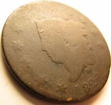 1822 Coronet Head Large Cent in SAFLIP®
