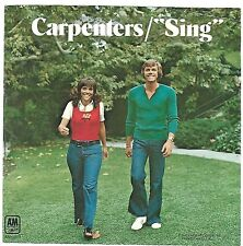 CARPENTERS  (Sing)  A&M 1413 = PICTURE SLEEVE ONLY!!!
