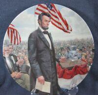 Gettysburg Address Lincoln Man of America Collector Plate Mort Kunstler COA