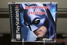 Batman & Robin (PlayStation 1, PS1 1998) FACTORY Y-FOLD SEALED! - RARE!