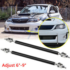 "Strut Rod Front Bumper Bar Adjust 6""-9"" Tie Diffuser Splitter For Subaru WRX STI"