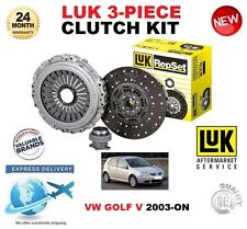 PER VW GOLF V 1K1 1K5 1.9 2.0 TDi 3.2 R32 4Motion 2003+ KIT FRIZIONE LUK 3 PEZZI