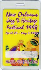 New Orleans Jazz Festival 1998 Laminated Backstage Pass Jimmy Buffett Doobie