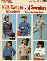 Kids Sweats And Sweaters Counted Cross Stitch 13 Patterns By Leisure Arts