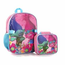New Trolls Econo Backpack with Lunch Bag Kit for Girls' - 15 Inch