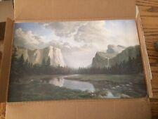 """Sierra Sunrise"" Print of a Dino Massaroni Painting, 1989 Without Frame"