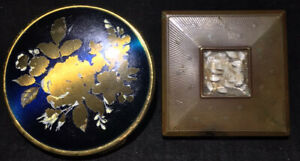 Vintage Makeup Compact Case Mirror MELISSA collectable Set Of Two ENGLAND