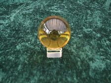 YELLOW CRYSTAL BALL FOR SCRYING CLAIRVOYANCE ETC With STAND ETC  60 MM  BOXED