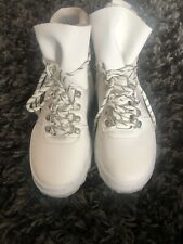 White Lace Up Boots Size 3