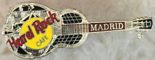 Tri-Plate Model 35 Guitar Pin #5141 Hard Rock Cafe Madrid 1990s Silver National