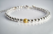 """Silberarmband """"Stardust"""" 925er Silber Perlen Armband verstellbar Damen"""