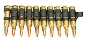 "Bullet belt Extension .223 Brass shell copper tips 5"" 11 bullets"
