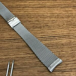 Longines Wittnauer 19mm Stainless Steel Mesh 1960s nos Vintage Watch Band