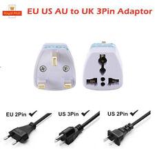 Universal US EU Euro to UK 3 Pin Socket Plug Adapter Charger Converter
