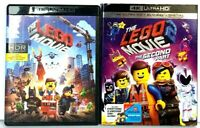 The Lego Movie Lot of 2: 1 + Second Part [4K UHD HDR Ultra HD Blu-ray / Bluray]