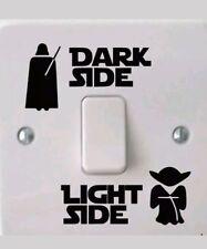 Star Wars Dark Light Side Light Switch Vinyl Decal Boys Bedroom Art Sticker Fun