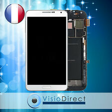 Ecran vitre complet sur chassis pour Samsung Galaxy Note 3 N9000 N9005 blanc