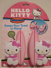 HELLO KITTY TOWEL CLIPS BY SANRIO SET OF 2 PLASTIC