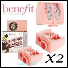 2 x Benefit All Purpose Makeup Pencil Sharpener With 2 Ends & Adjustable Insert