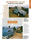Citroën 2 CV Prototype 4X4 Pick-up à 4 Roues Motrices 2004 Car Auto FICHE FRANCE
