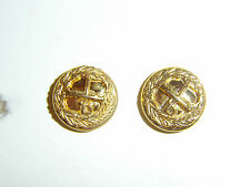 b6599p WW 2 British Army General buttons for Visor hat pair B2D55