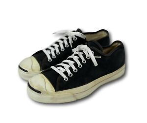 Vintage 80's USA Converse JACK PURCELL Black Canvas Low Top Sneakers Sz 8-8.5