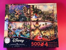 New ListingDisney Thomas Kinkade Jigsaw Puzzles(4 pack/500 Piece Puzzles)individual Bags.