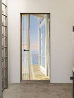 3D Fake Window Balcony Scenery Self-Adhesive Bedroom Door Murals Wall Stickers